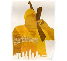 GTA San Andreas Minimalistic Design Poster