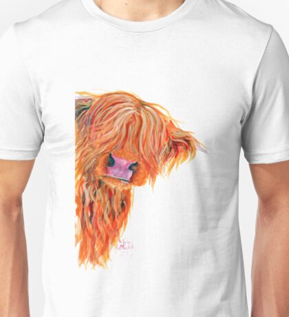 HIGHLAND COW 'PEEKABOO' BY SHIRLEY MACARTHUR Unisex T-Shirt