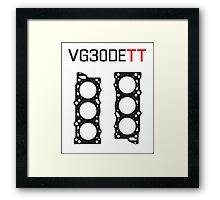 VG30DETT Nissan Engine Head Gasket Design - light background Framed Print