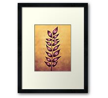 Purple Abstract Plant Framed Print