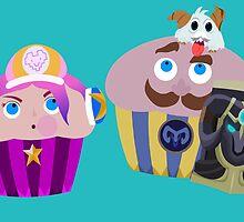 Arcade Miss Fortune&Braum Cupcakes by PandaBoxArt