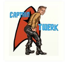 Captain Twerk Art Print