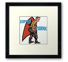 Captain Twerk Framed Print