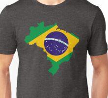 Brazil Flag Map Unisex T-Shirt