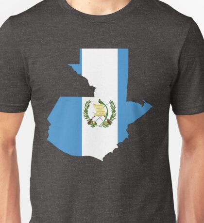 Guatemala Flag Map Unisex T-Shirt