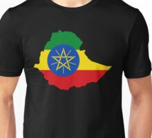 Ethiopia Flag Map Unisex T-Shirt