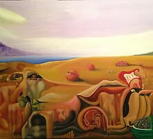 Frank Zappa Meets Salvador Dali. Surreal Painting by William Wright