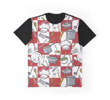 Kitchen Tools Checkerboard Graphic T-Shirt