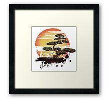 Bonsai Tree Karate Dojo Framed Print