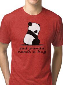 sad panda needs a hug Tri-blend T-Shirt