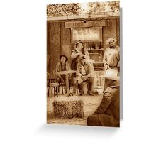 Happy Hour in the Old West Greeting Card
