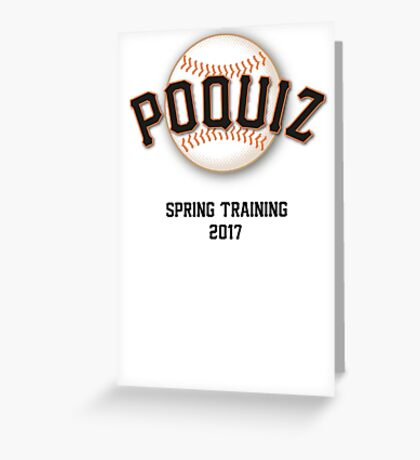 Poquiz Giants Greeting Card