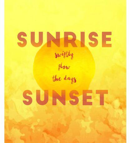 Sunrise Sunset Sticker