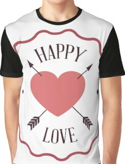 Happy Valentine's Day with Love Graphic T-Shirt