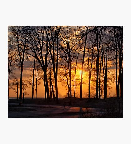Sunset At Presque Isle - Erie, PA Photographic Print