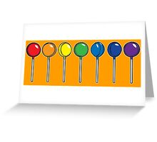 What color is your lollipop / sucker / candy Greeting Card