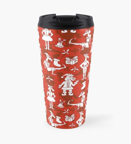 Christmas Unicorns Travel Mug