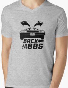 Back To The 80s Delorean  Mens V-Neck T-Shirt
