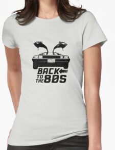 Back To The 80s Delorean  Womens Fitted T-Shirt