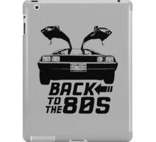 Back To The 80s Delorean  iPad Case/Skin