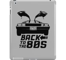 Back To The 80s Delorean  iPad Case/Skin