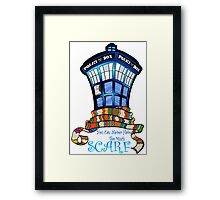 Too Much Scarf Framed Print