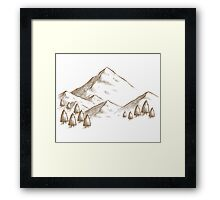 Mountain Sketch Framed Print