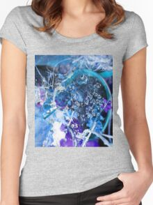 Chaos in Blue Women's Fitted Scoop T-Shirt