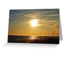 Sun About To Set Greeting Card
