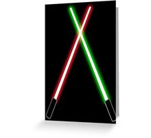 Lightsabers Greeting Card
