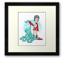 Octo-Wrestlin'! Framed Print