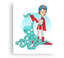 Octo-Wrestlin'! Canvas Print