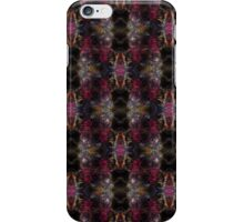 red Malus 'Radiant'  crab apple blossoms #2 dark pattern iPhone Case/Skin
