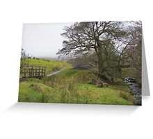 Haunted landscape Greeting Card
