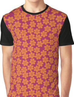 Spring Flowers in Ornage and Pink Graphic T-Shirt