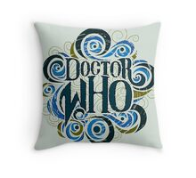 Whimsically Wibbly Wobbly Timey Wimey - Light Shirt Throw Pillow