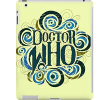 Whimsically Wibbly Wobbly Timey Wimey - Light Shirt iPad Case/Skin