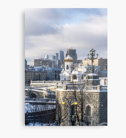 Architecture of the city in winter Metal Print
