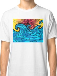 Aztec sun waves Classic T-Shirt