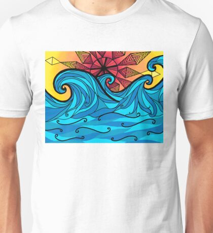 Aztec sun waves Unisex T-Shirt