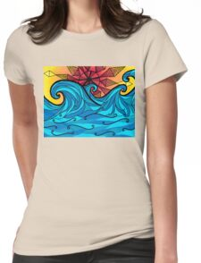 Aztec sun waves Womens Fitted T-Shirt