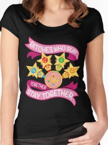 Slay Together, Stay Together - Sailor Scouts Women's Fitted Scoop T-Shirt