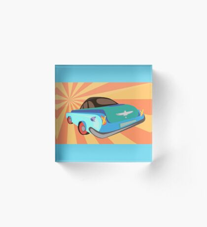 Disco retro car  Acrylic Block