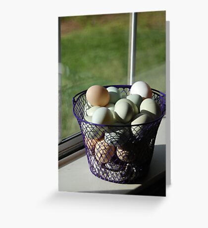 A basket of eggs Greeting Card