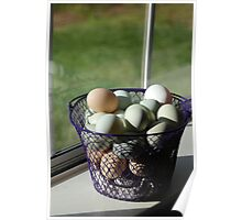 A basket of eggs Poster