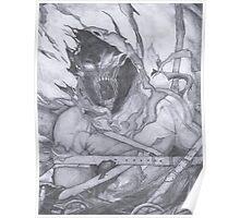 "Disturbed ""Asylum"" Pencil Sketch Poster"
