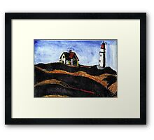 LightHouse (After E.Hopper) Framed Print