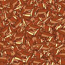 Chocolate Brown Abstract by Gravityx9
