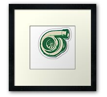 Green Turbo Framed Print