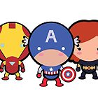 The Cute Avengers by Adriana Cruz Berdecia